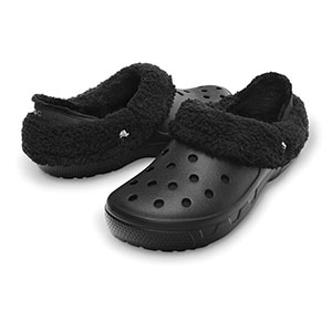 Mammoth EVO fleece-lined clog in black from Crocs sizes W8, M8/W10 only