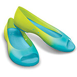 Carliana Peep Toe Omber citrus and aqua