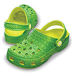 Crocskin Classic kids citrus/lime