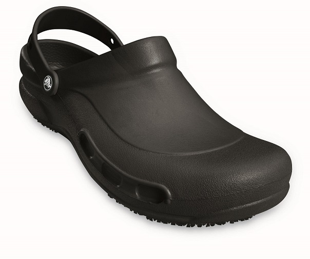 Crocs Bistro black clogs work kitchen safety hospitality catering medical shoes
