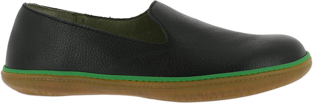 EL Naturalista NE08 black leather slip on shoes Eu 43