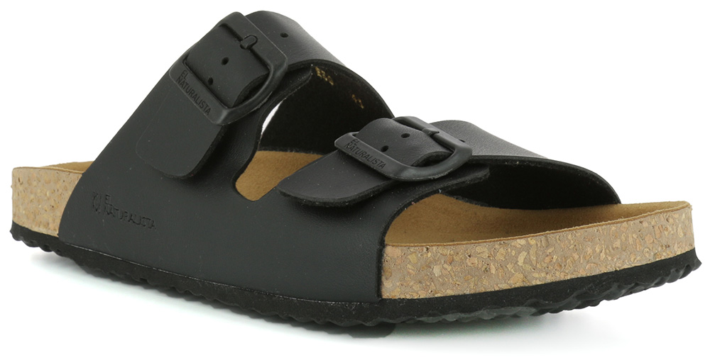 EL Naturalista NE50 Waraji black slide unisex sandals