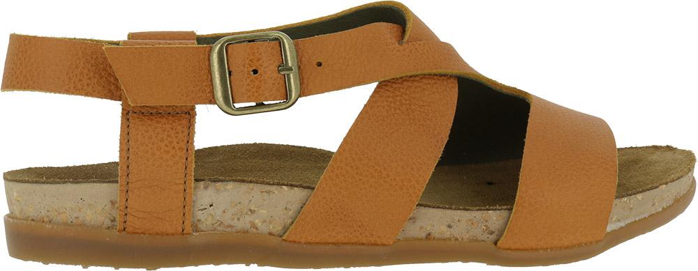 El Naturalista NF46 soft grain leather buckle sandals
