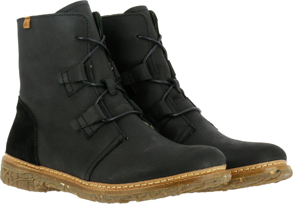 El Naturalista Angkor N5470 leather women's boots in black
